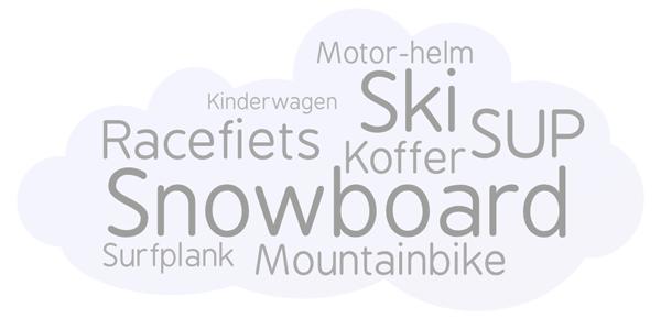 Safeman voor ski, snowboard, mountainbike, racefiets, SUP, surfplank, kinderwagen, motor-helm, koffer